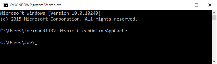 cleanappcache